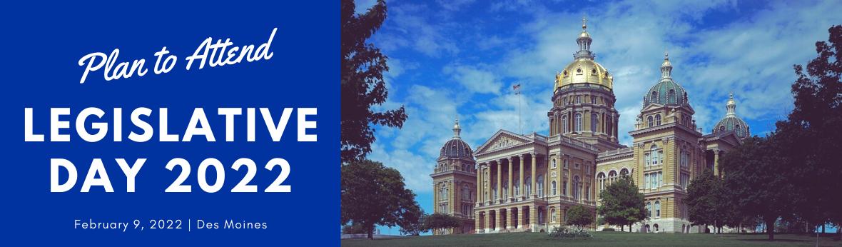 Plan to attend Legislative Day 2022, February 9, 2022